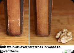 walnut cover scratches wood